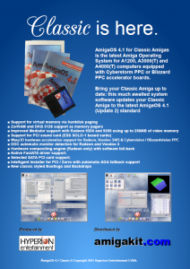 AmigaOS 4.1 Classic Advertisement